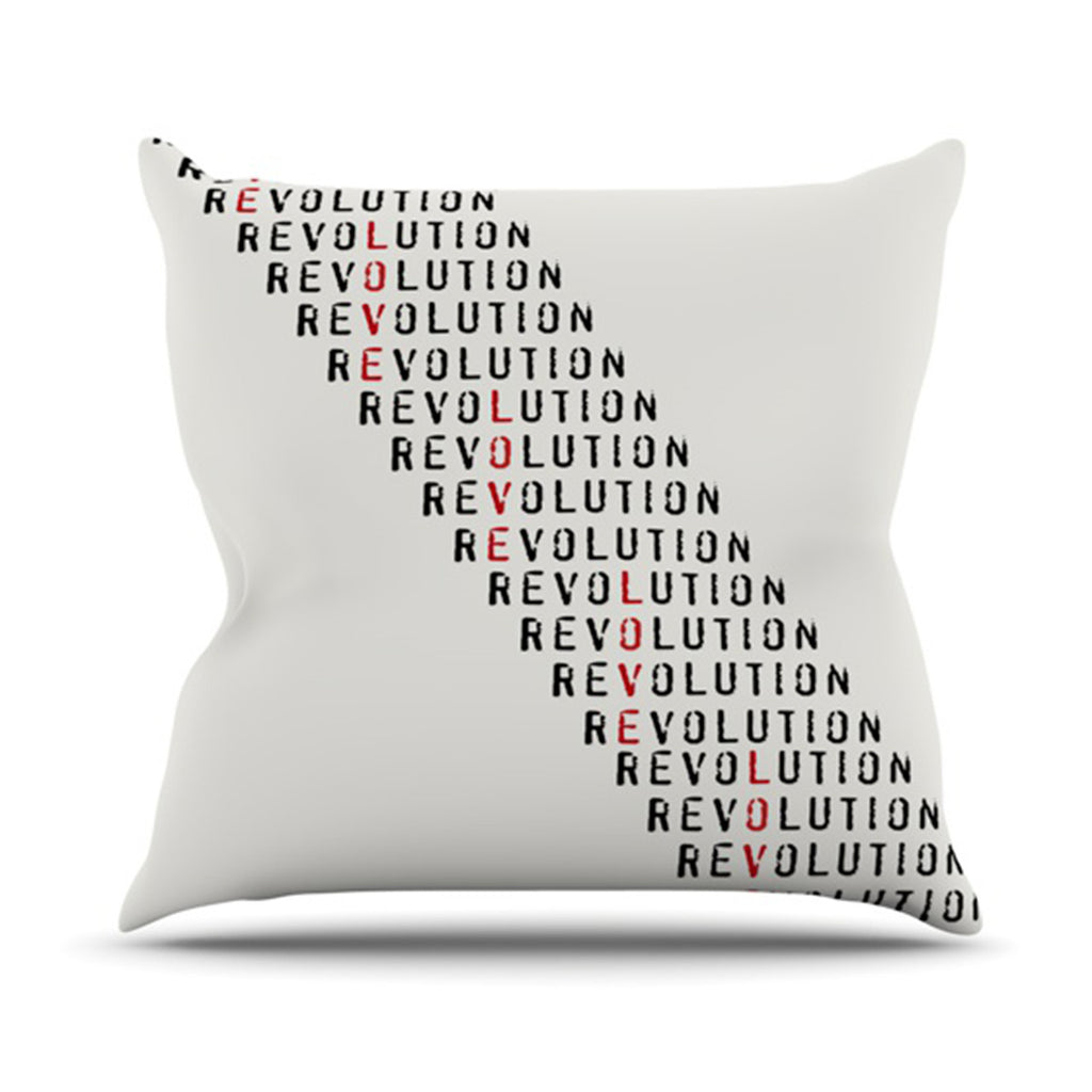 "Skye Zambrana ""Revolution"" Throw Pillow - KESS InHouse  - 1"
