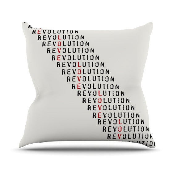 "Skye Zambrana ""Revolution"" Outdoor Throw Pillow - KESS InHouse  - 1"