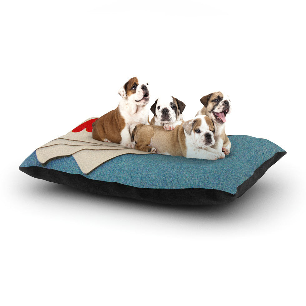 "Skye Zambrana ""Love"" Dog Bed - KESS InHouse  - 1"