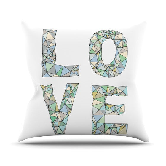 "Skye Zambrana ""Four Letter Word"" Outdoor Throw Pillow - KESS InHouse  - 1"