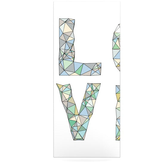 "Skye Zambrana ""Four Letter Word"" Luxe Rectangle Panel - KESS InHouse  - 1"