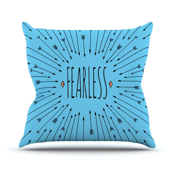"Skye Zambrana ""Fearless"" Outdoor Throw Pillow - KESS InHouse  - 1"