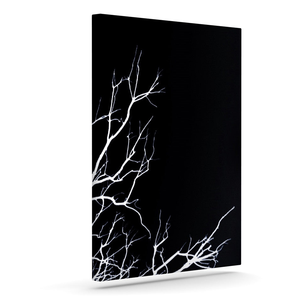 "Skye Zambrana ""Winter Black"" Outdoor Canvas Wall Art - KESS InHouse  - 1"