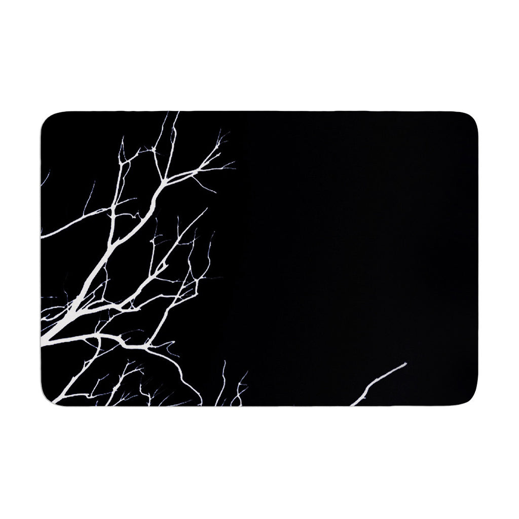 "Skye Zambrana ""Winter Black"" Memory Foam Bath Mat - KESS InHouse"