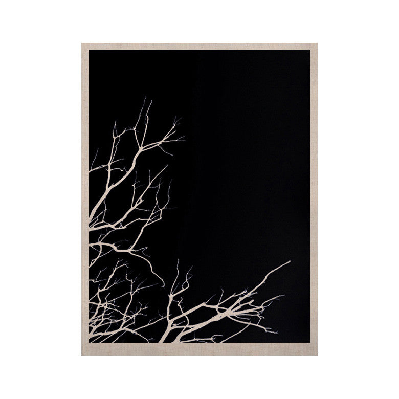 "Skye Zambrana ""Winter Black"" KESS Naturals Canvas (Frame not Included) - KESS InHouse  - 1"