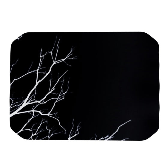 "Skye Zambrana ""Winter Black"" Place Mat - KESS InHouse"