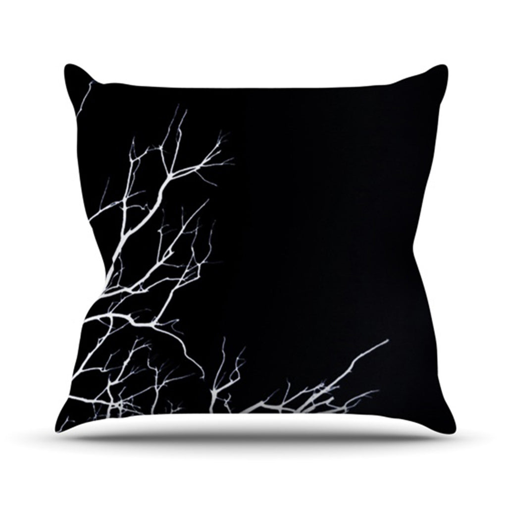 "Skye Zambrana ""Winter Black"" Throw Pillow - KESS InHouse  - 1"
