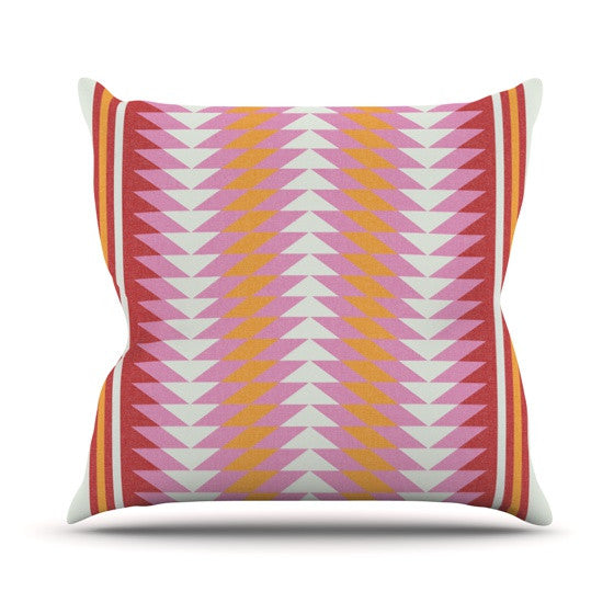 "Skye Zambrana ""Bomb Pop"" Outdoor Throw Pillow - KESS InHouse  - 1"