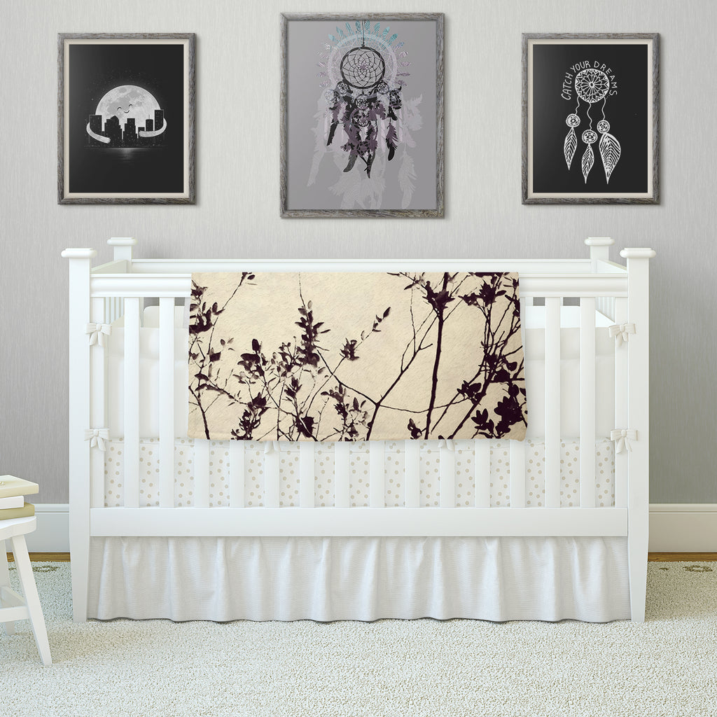 "Skye Zambrana ""Silhouette"" Fleece Throw Blanket"