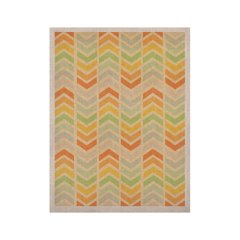 "Skye Zambrana ""Infinity"" Tan Chevron KESS Naturals Canvas (Frame not Included) - KESS InHouse  - 1"
