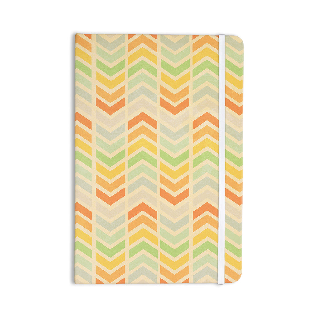 "Skye Zambrana ""Infinity"" Tan Chevron Everything Notebook - KESS InHouse  - 1"