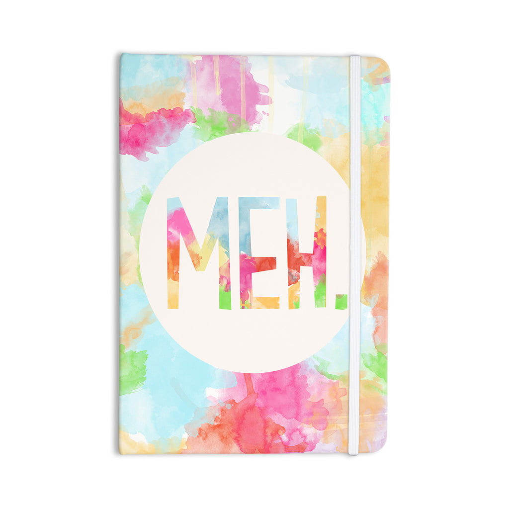 "Skye Zambrana ""Meh"" Rainbow Watercolor Everything Notebook - KESS InHouse  - 1"