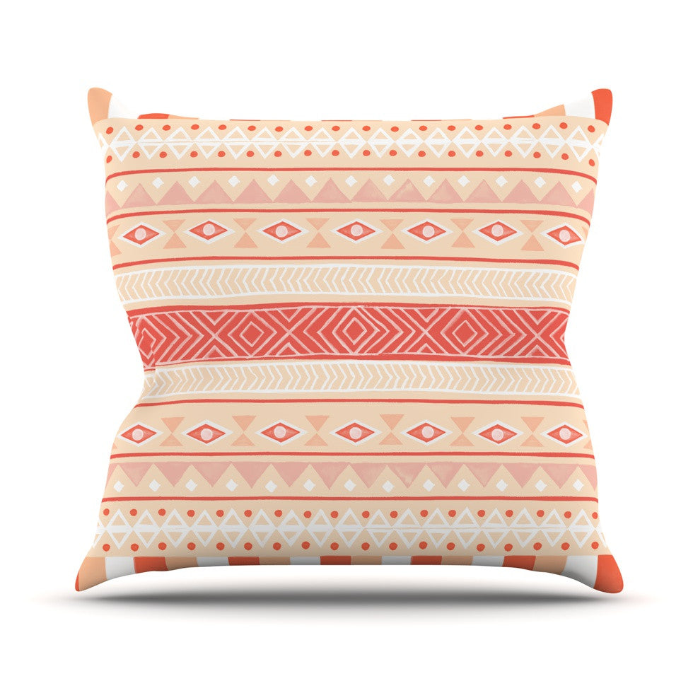 "Skye Zambrana ""Mojave"" Orange Red Throw Pillow - KESS InHouse  - 1"