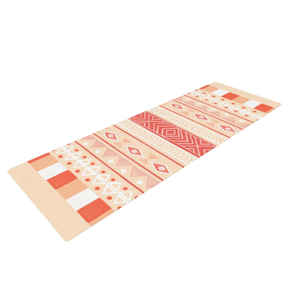 "Skye Zambrana ""Mojave"" Orange Red Yoga Mat - KESS InHouse  - 1"