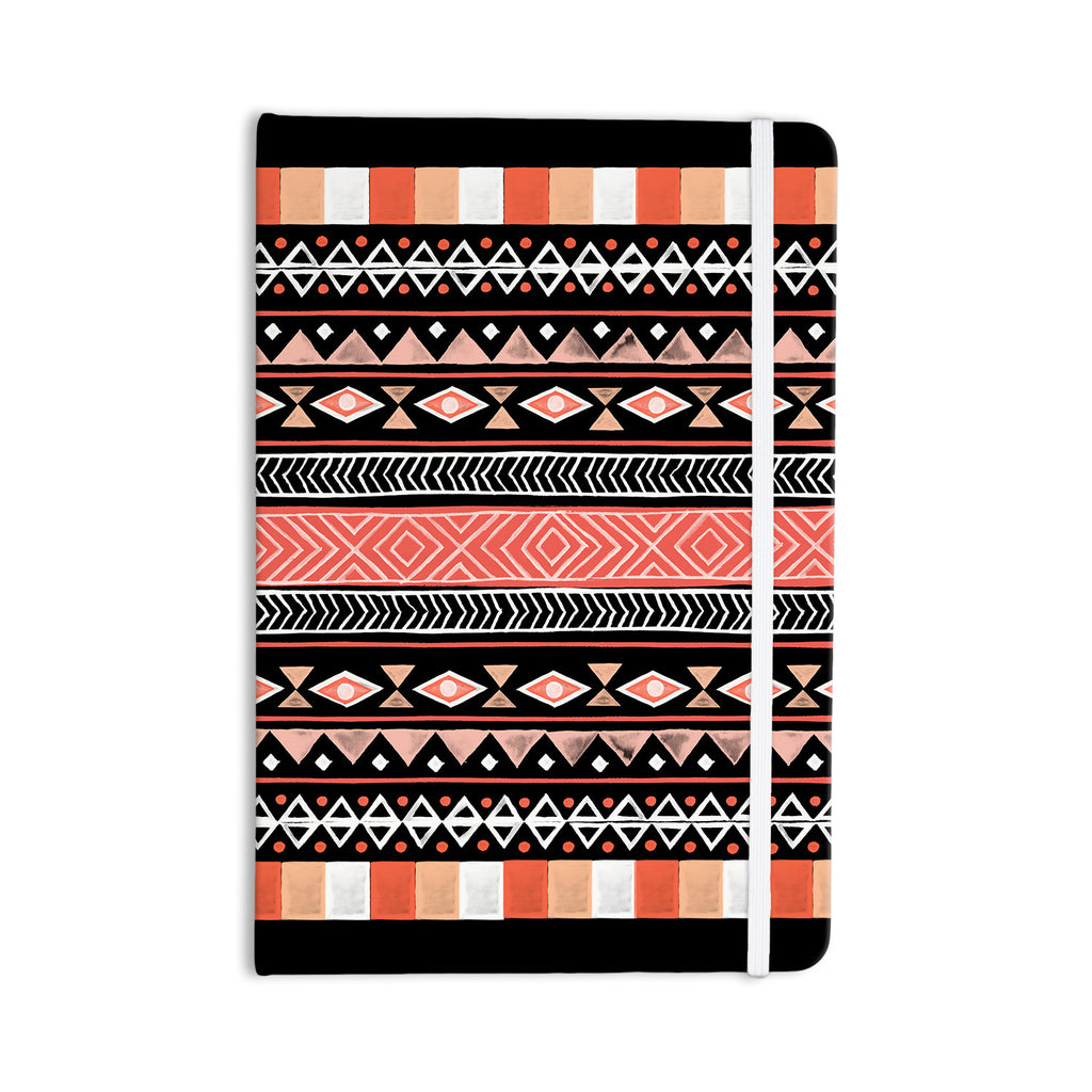 "Skye Zambrana ""Mojave Black"" Black Red Everything Notebook - KESS InHouse"