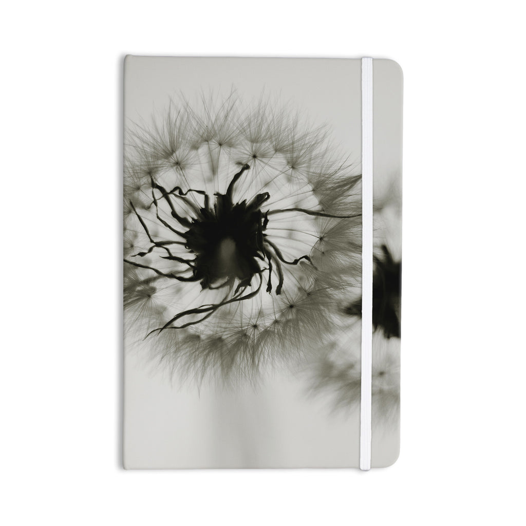 "Skye Zambrana ""Wishes"" Gray Flower Everything Notebook - KESS InHouse  - 1"