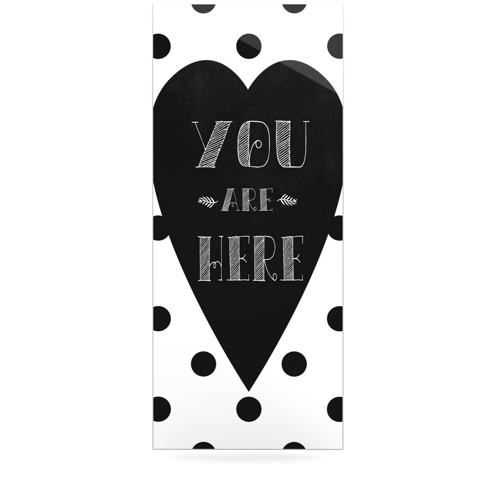 "Skye Zambrana ""You Are Here"" Black White Luxe Rectangle Panel - KESS InHouse  - 1"