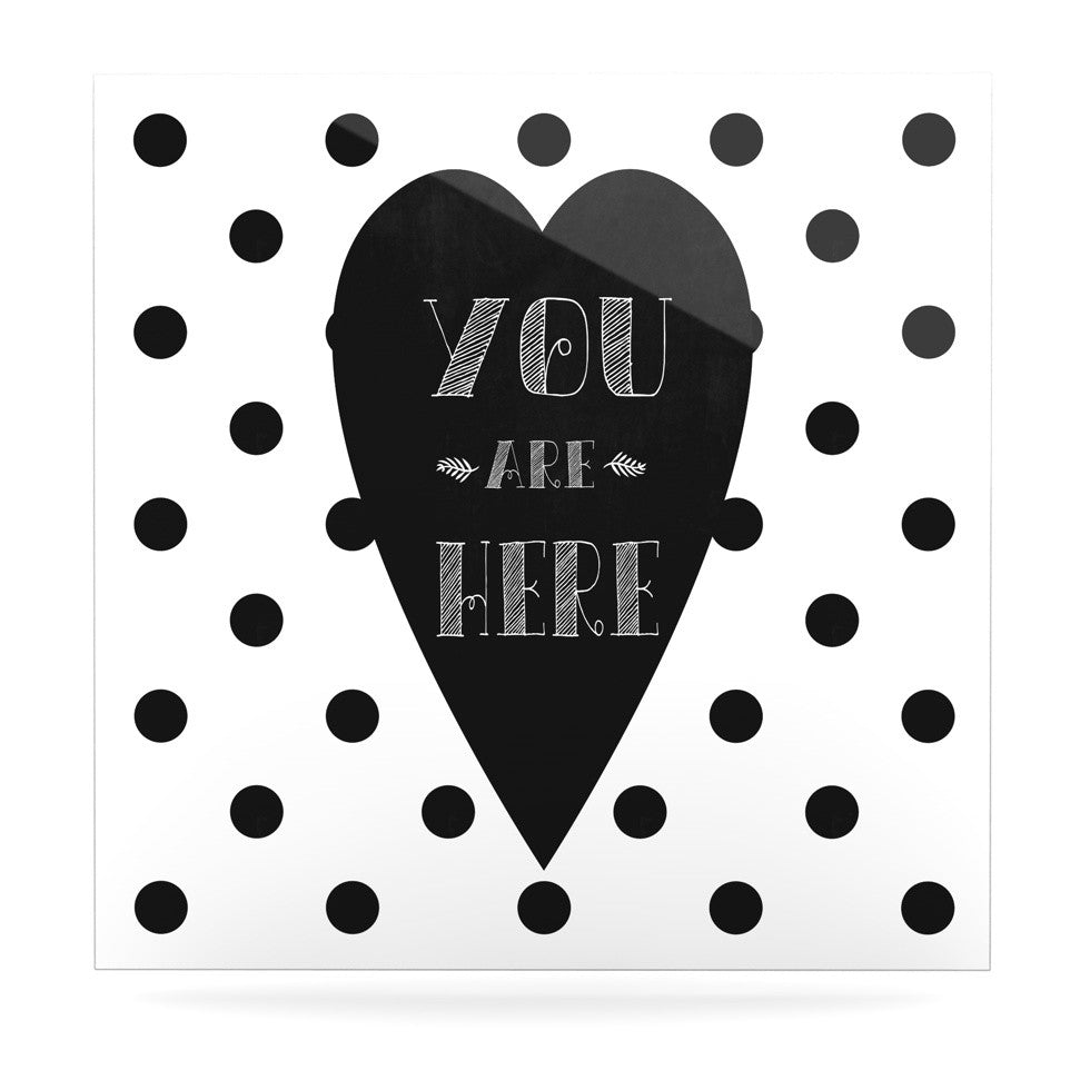 "Skye Zambrana ""You Are Here"" Black White Luxe Square Panel - KESS InHouse  - 1"