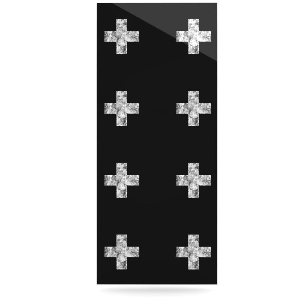 "Skye Zambrana ""Swiss Cross Black"" Simple Dark Luxe Rectangle Panel - KESS InHouse  - 1"