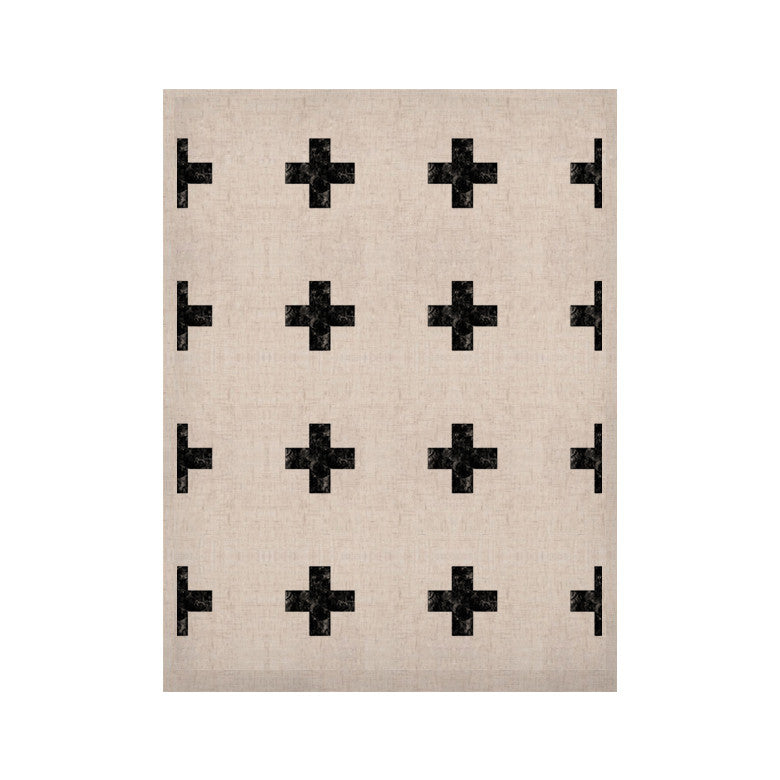 "Skye Zambrana ""Swiss Cross White"" Simple Light KESS Naturals Canvas (Frame not Included) - KESS InHouse  - 1"