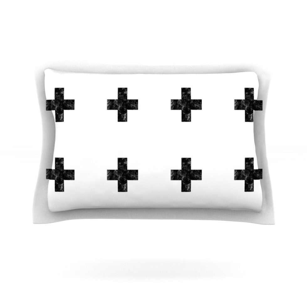 "Skye Zambrana ""Swiss Cross White"" Simple Light Pillow Sham - KESS InHouse"