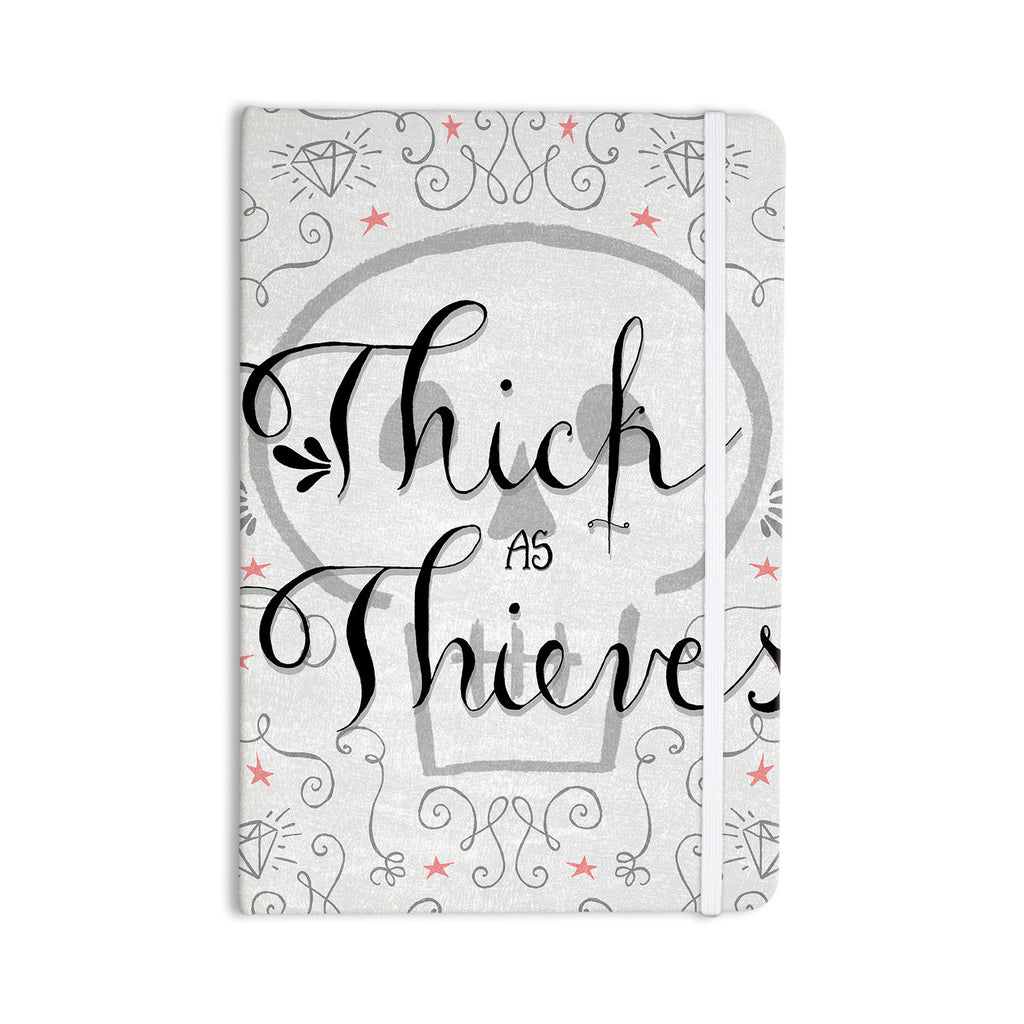 "Skye Zambrana ""Thick as Thieves"" White Black Everything Notebook - KESS InHouse  - 1"