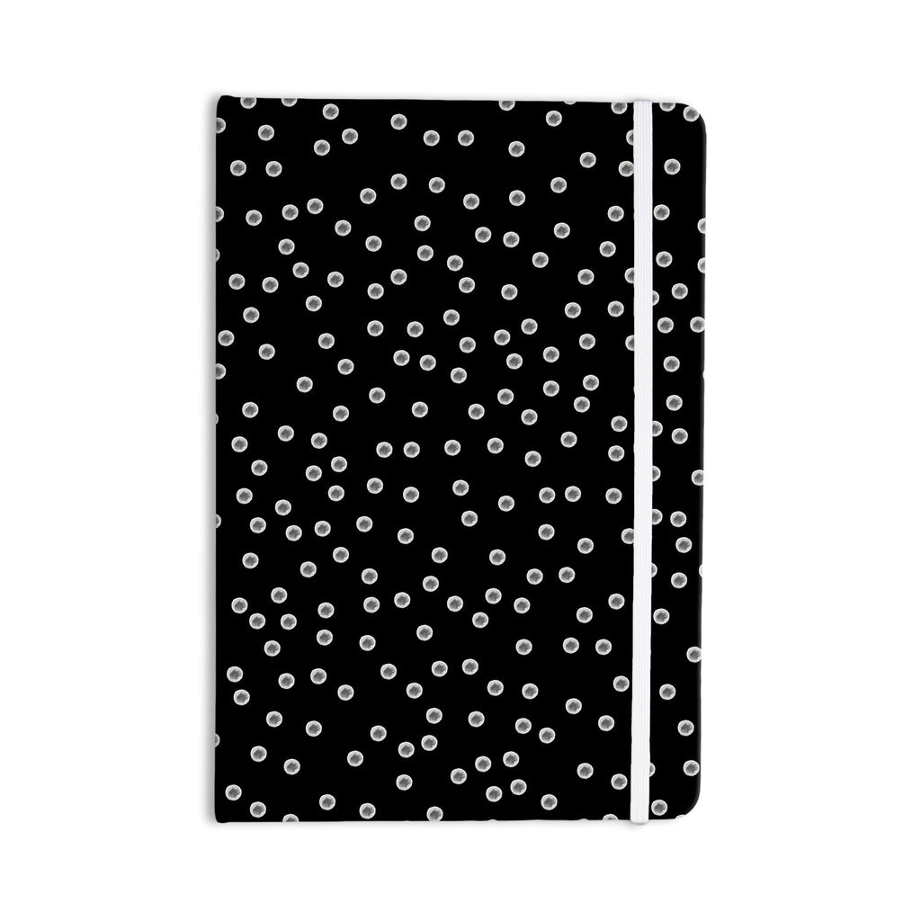 "Skye Zambrana ""Watercolor Dots"" Black Everything Notebook - KESS InHouse  - 1"
