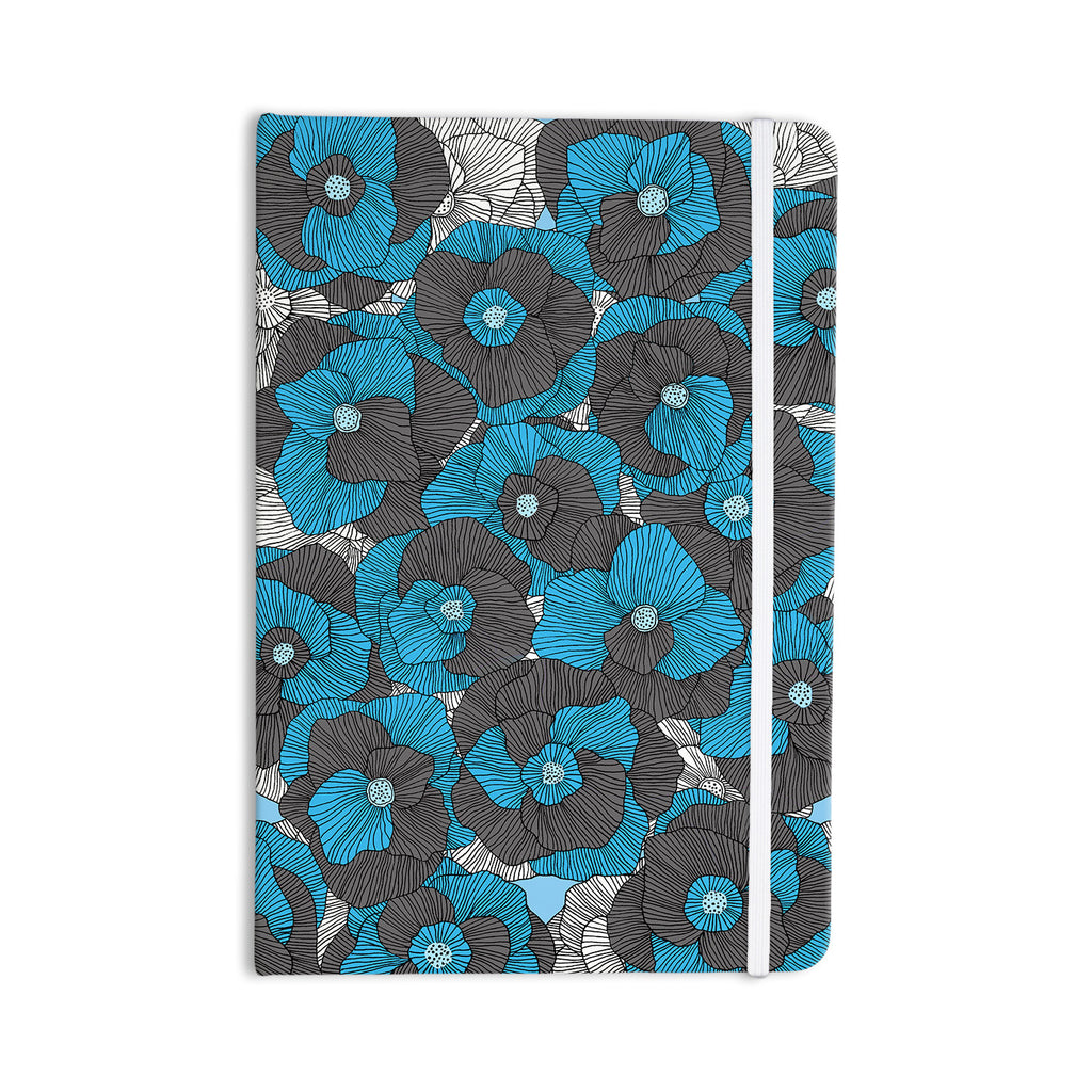 "Skye Zambrana ""In Bloom"" Blue Gray Everything Notebook - KESS InHouse  - 1"