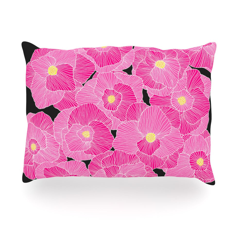 "Skye Zambrana ""In Bloom Pink"" Floral Oblong Pillow - KESS InHouse"