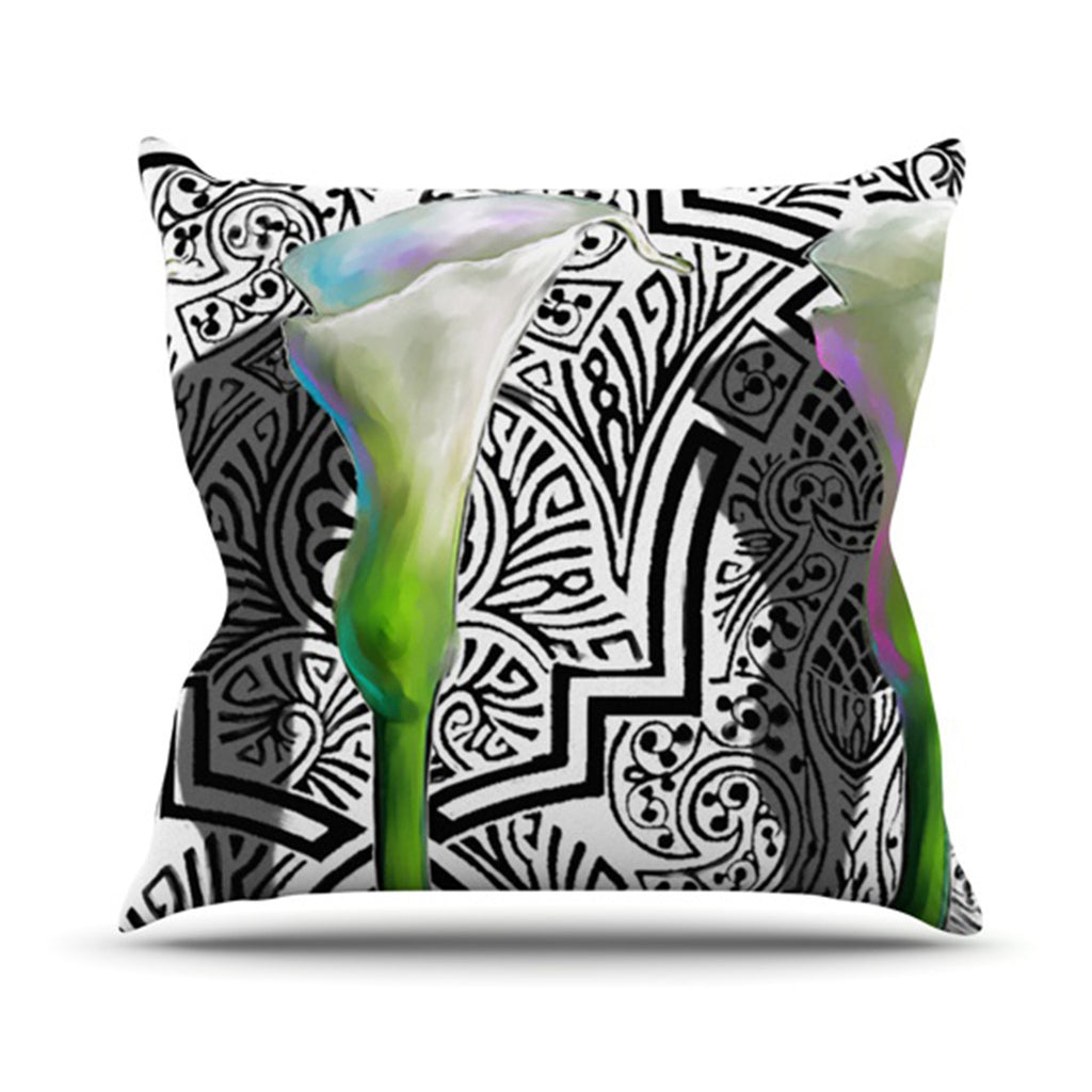 "S. Seema Z ""Three Lily"" Throw Pillow - KESS InHouse  - 1"