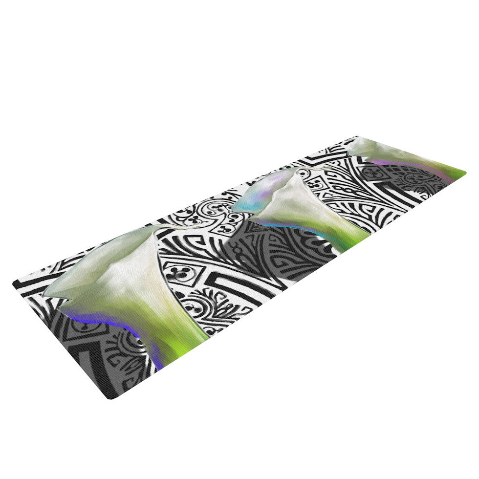 "S. Seema Z ""Three Lily"" Yoga Mat - KESS InHouse  - 1"