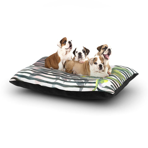 "S. Seema Z ""Peony n White Black"" Dog Bed - KESS InHouse  - 1"
