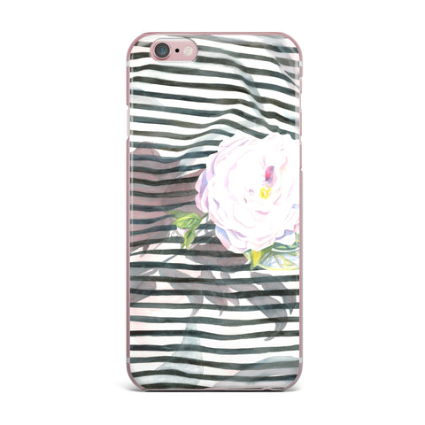 "S. Seema Z ""Peony n White Black"" iPhone Case - KESS InHouse"