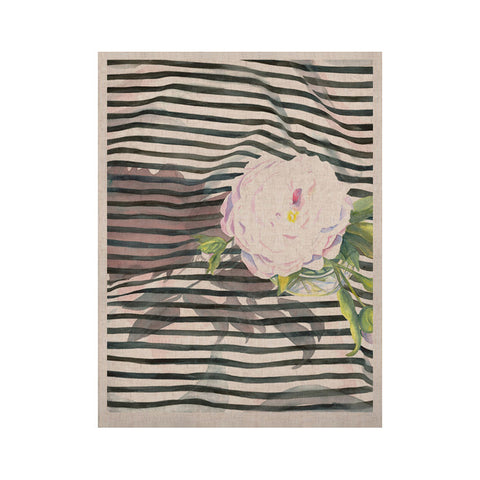 "S. Seema Z ""Peony n White Black"" KESS Naturals Canvas (Frame not Included) - KESS InHouse  - 1"