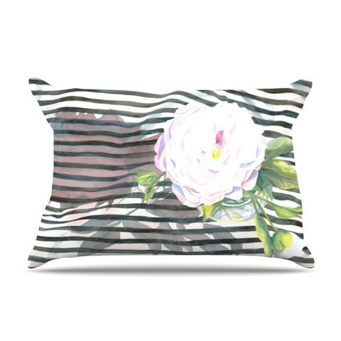 "S. Seema Z ""Peony n White Black"" Pillow Sham - KESS InHouse"