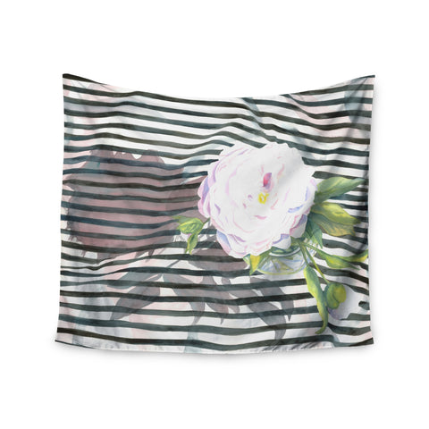 "S. Seema Z ""Peony n White Black"" Wall Tapestry - KESS InHouse  - 1"