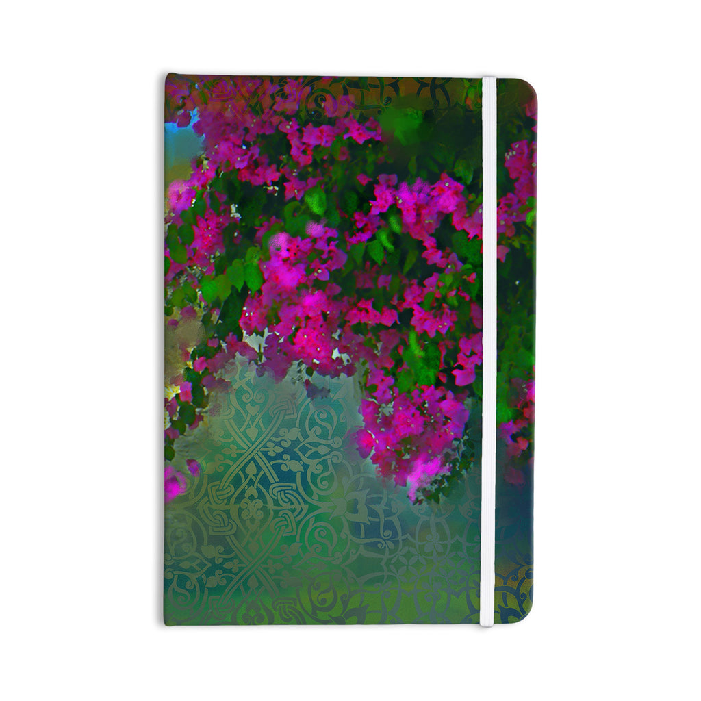 "S. Seema Z ""Khushbu"" Purple Green Everything Notebook - KESS InHouse  - 1"