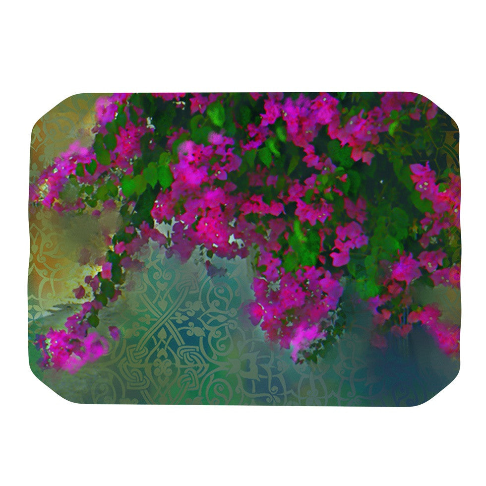"S. Seema Z ""Khushbu"" Purple Green Place Mat - KESS InHouse"
