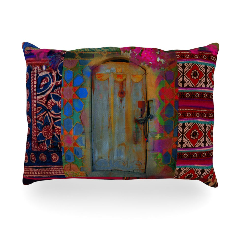 "S. Seema Z ""Ethnic Escape"" Ped Pink Oblong Pillow - KESS InHouse"