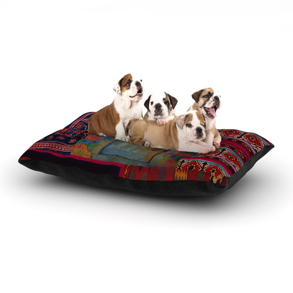 "S. Seema Z ""Ethnic Escape"" Ped Pink Dog Bed - KESS InHouse  - 1"