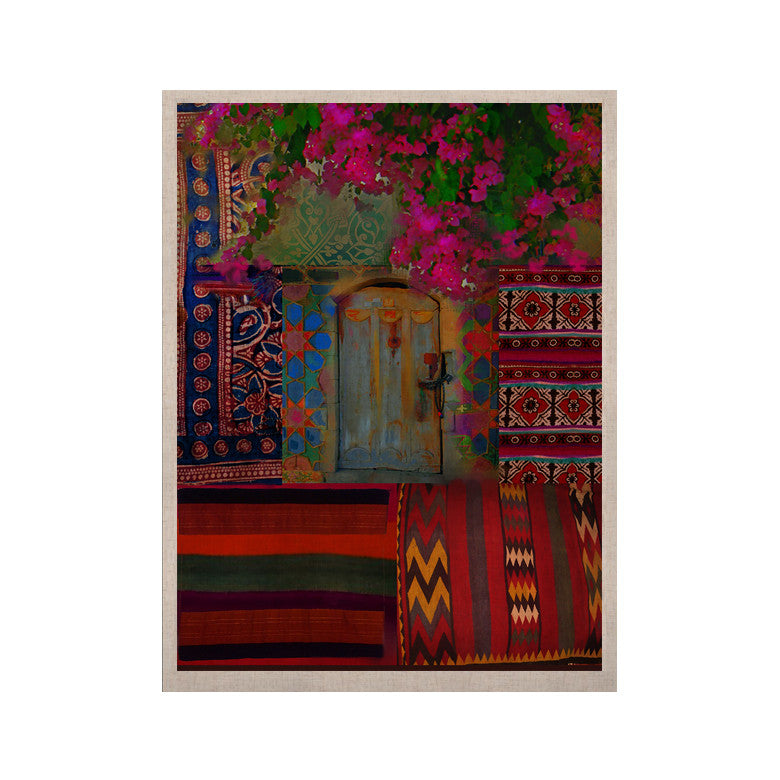 "S. Seema Z ""Ethnic Escape"" Ped Pink KESS Naturals Canvas (Frame not Included) - KESS InHouse  - 1"