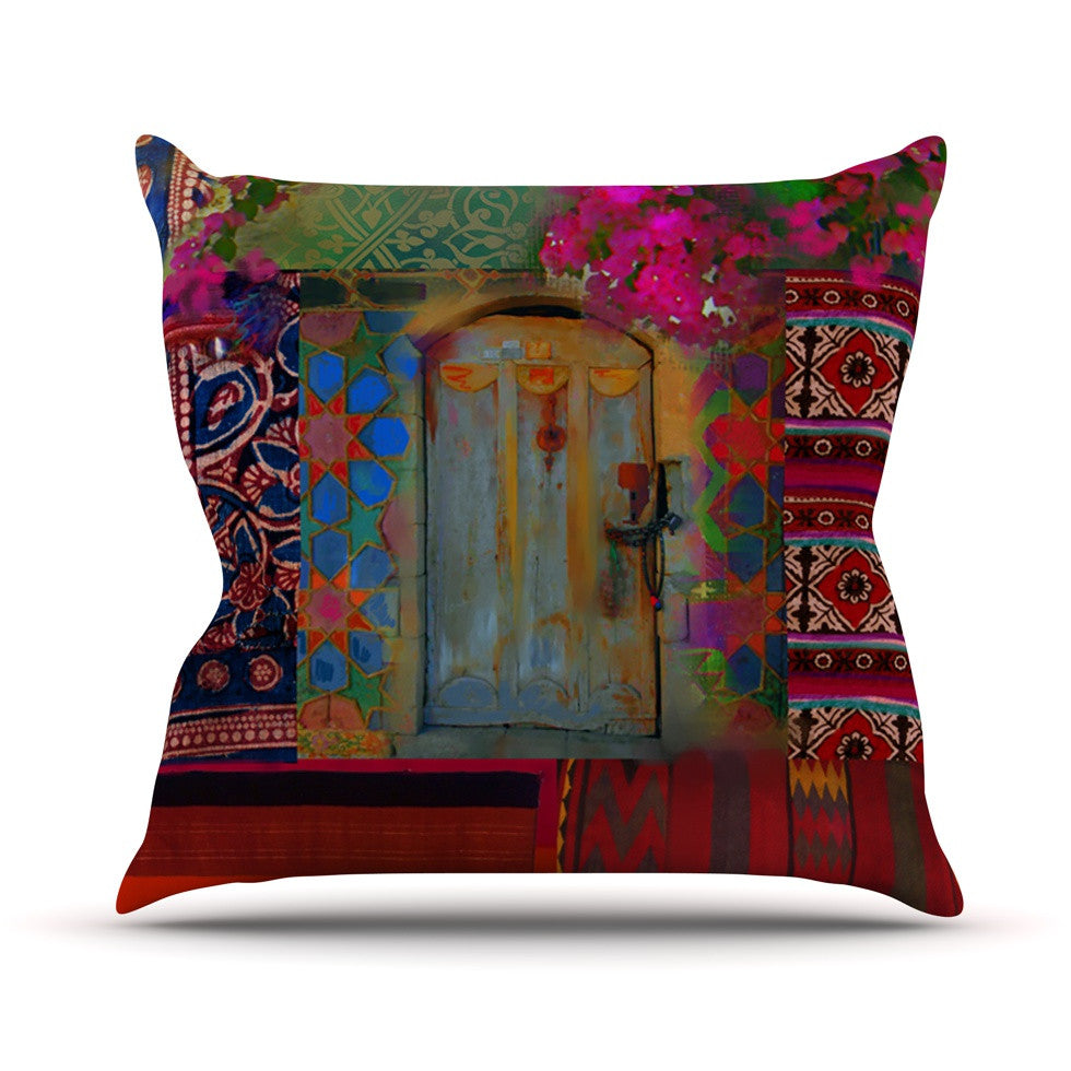 "S. Seema Z ""Ethnic Escape"" Ped Pink Outdoor Throw Pillow - KESS InHouse  - 1"