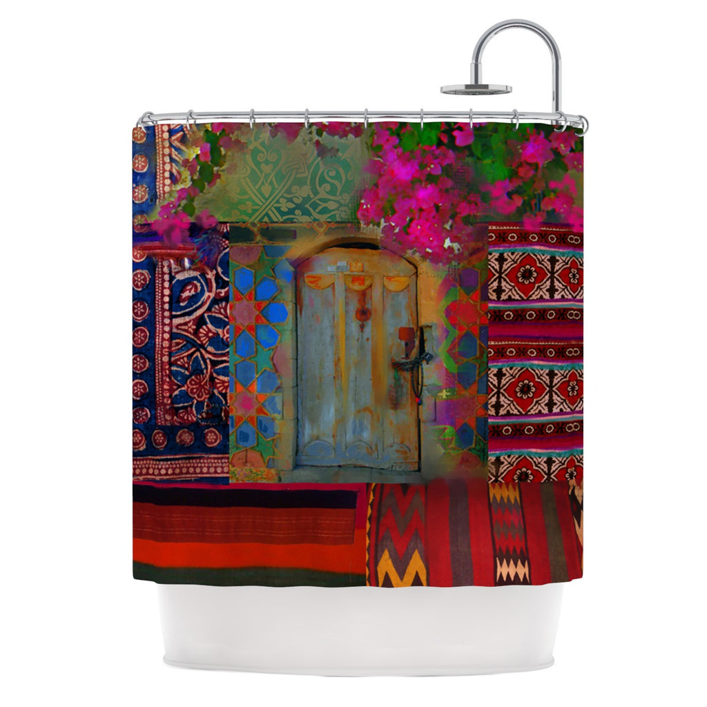 "S. Seema Z ""Ethnic Escape"" Ped Pink Shower Curtain - KESS InHouse"