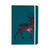 "Alias ""Deer In The Starlight"" Teal Pink Everything Notebook - KESS InHouse  - 1"