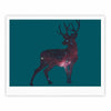 "Alias ""Deer In The Starlight"" Teal Pink Fine Art Gallery Print - KESS InHouse"
