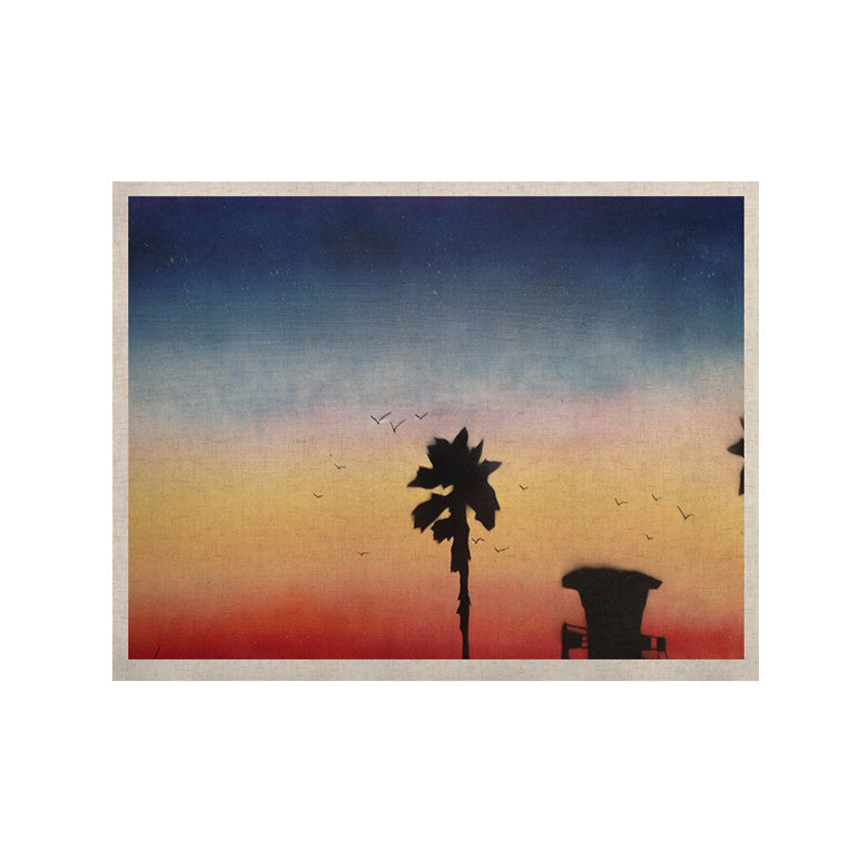 "Infinite Spray Art ""Carlsbad Sunset"" Coastal Painting KESS Naturals Canvas (Frame not Included) - KESS InHouse  - 1"
