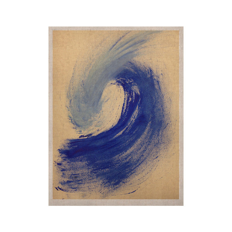 "Infinite Spray Art ""Waveology"" Tan Blue KESS Naturals Canvas (Frame not Included) - KESS InHouse  - 1"