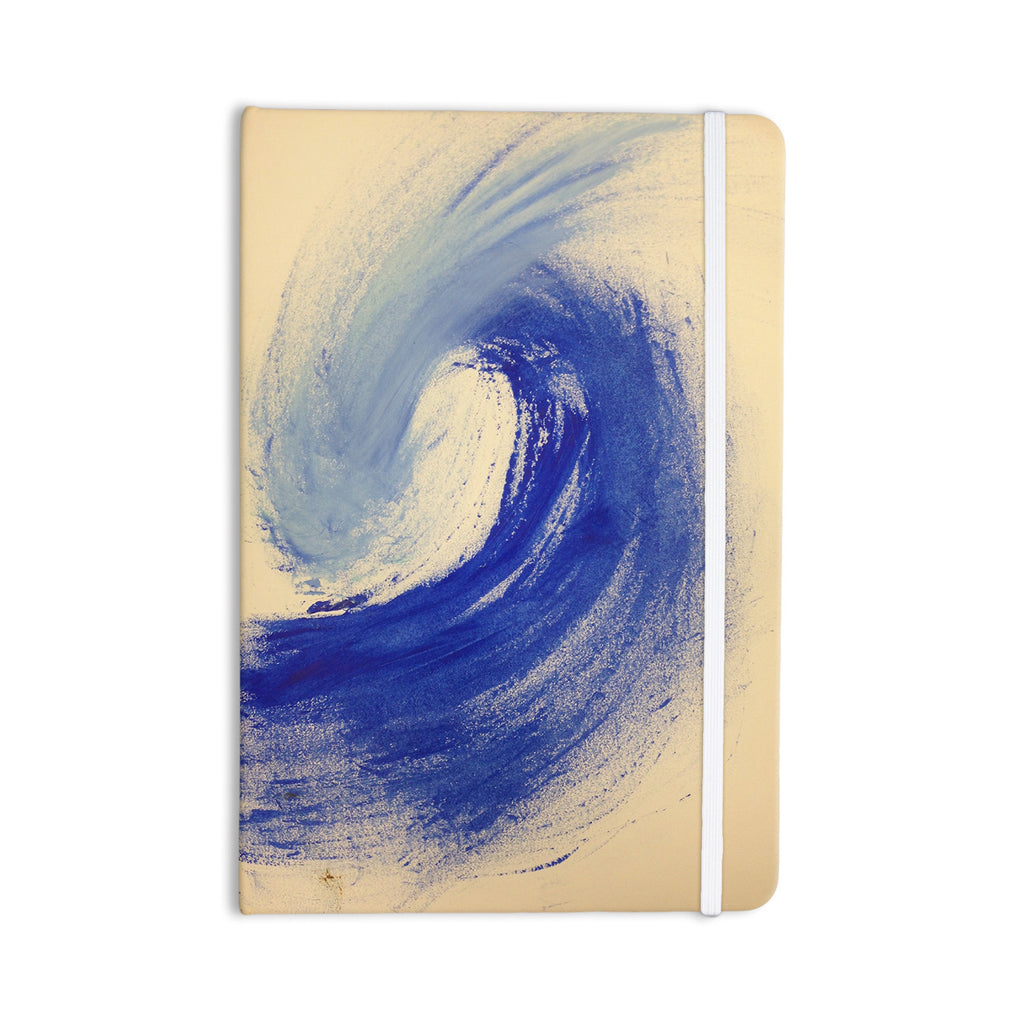 "Infinite Spray Art ""Waveology"" Tan Blue Everything Notebook - KESS InHouse  - 1"