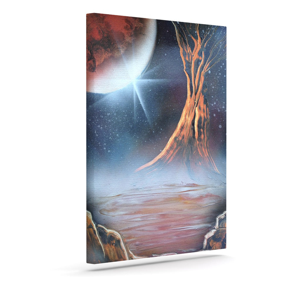 "Infinite Spray Art ""Embark"" Nature Blue Canvas Art - KESS InHouse  - 1"