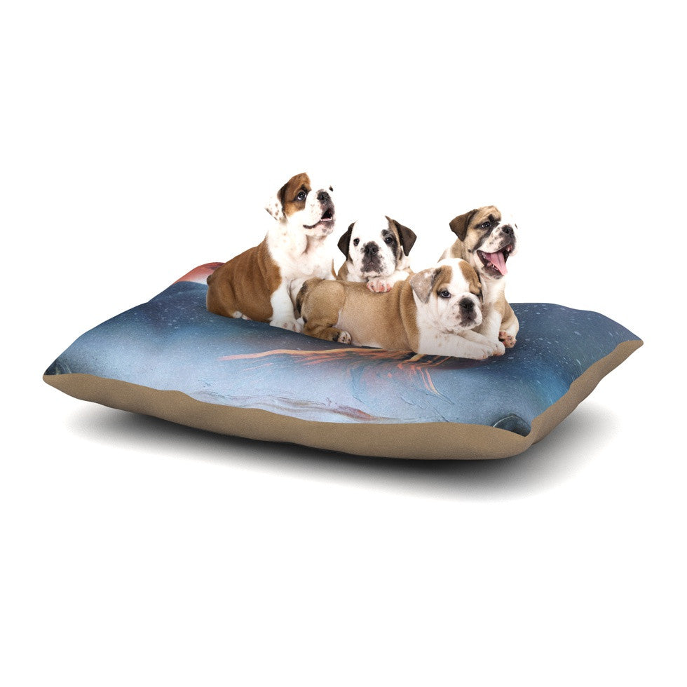 "Infinite Spray Art ""Embark"" Nature Blue Dog Bed - KESS InHouse  - 1"